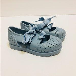 Zaxy Nina blue shoes with tie. Size 8